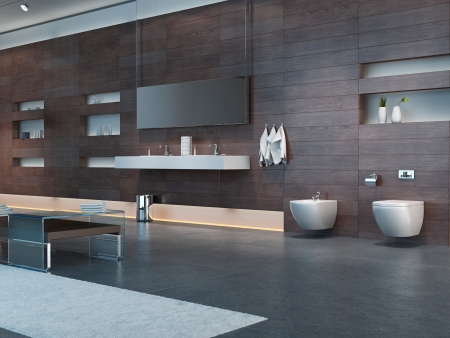 modern apartment: Modern Design Bathroom Interior