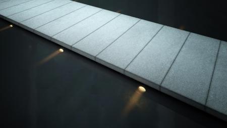 Modern glass stair / interior architecture stair Stock Photo - 19459539