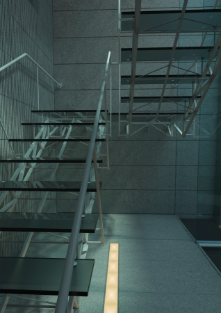 Modern Glass Stair Interior Architecture Stair