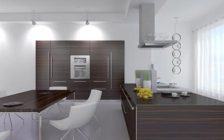 kitchen design: Modern Design Kitchen Interior Stock Photo