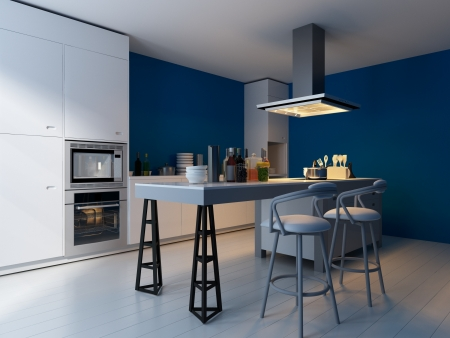 Modern Design Kitchen Interior Stock Photo, Picture And Royalty