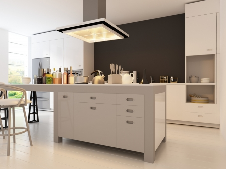Modern Design Kitchen Interior Stock Photo - 19532895