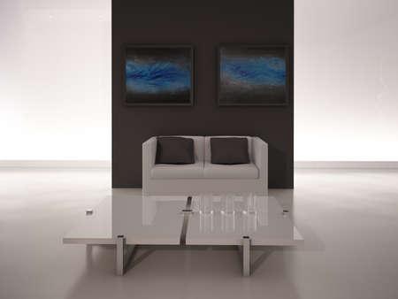 Modern design living room   Interior Architecture Stock Photo - 19532862