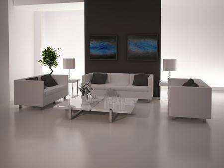 Modern design living room   Interior Architecture Stock Photo - 19532869