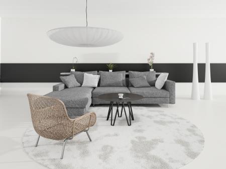 grey rug: Modern design living room   Interior Architecture