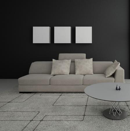 Modern design living room   Interior Architecture Stock Photo - 19532940