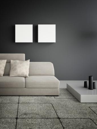 Modernes Design Wohnzimmer Interior Architecture Lizenzfreie Bilder