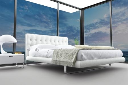 Exclusive Design Bedroom   3d Interior architecture Stock Photo - 20074407