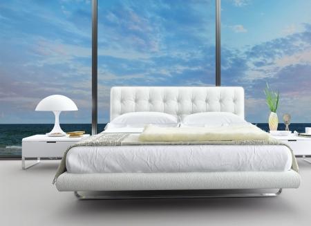 futuristic interior: Exclusive Design Bedroom   3d Interior architecture