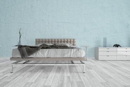 city living: Modern design bedroom   3d Interior architecture