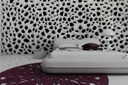 Modern design bedroom   3d Interior architecture photo