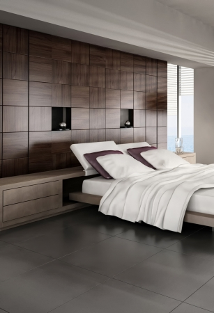 Modern design bedroom interior Stock Photo - 20074275