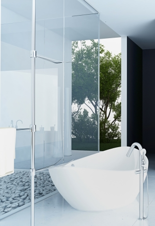 bathroom interior: Modern design bathroom interior