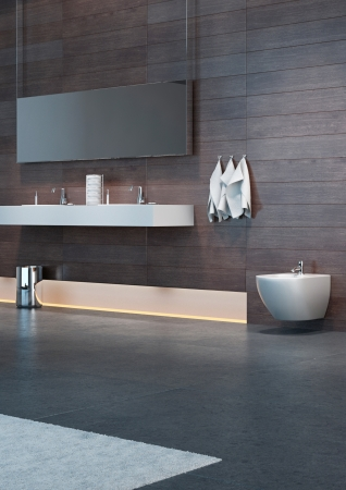 modern wooden bathroom inter Stock Photo - 20217874