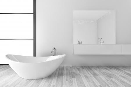 bathroom interior: modern bathroom interior Stock Photo
