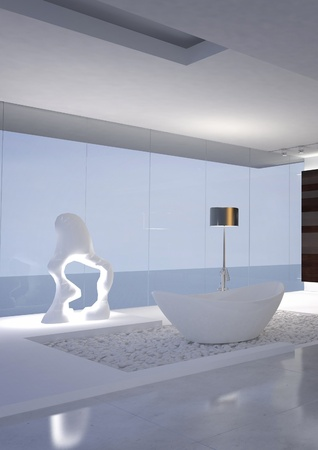 Modern luxury design bathroom interior photo