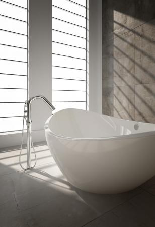 cuarto de ba�o: Moderno ba�o interior