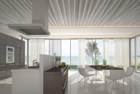 3d kitchen   Dining room inter Stock Photo - 20859626