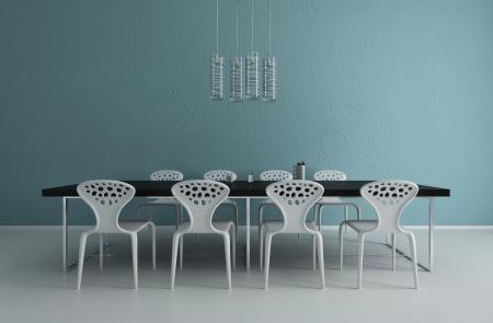 jídelna: 3d vykreslování moderní jídelna interiér