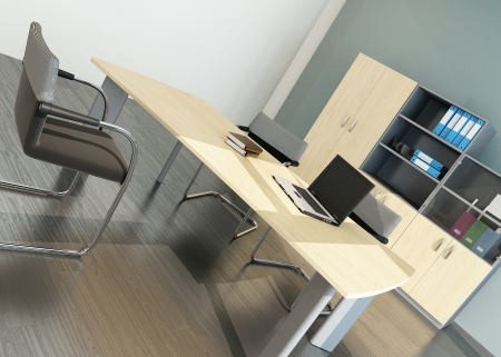 Modern office interior with desk Stock Photo - 23064509