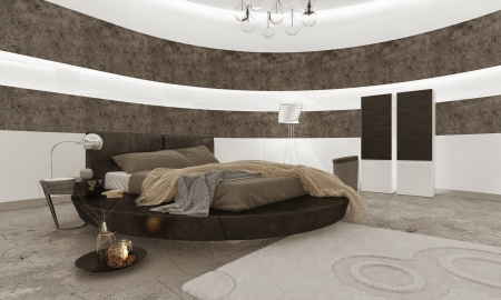 kingsize: Luxury bedroom interior with king-size bed
