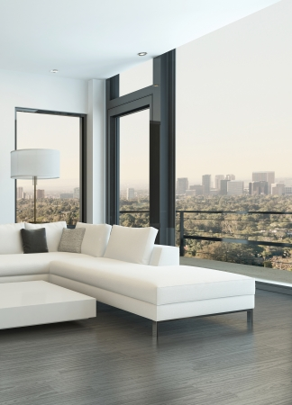 modern living: Modern living room interior with design furniture