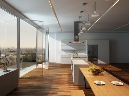Moderne K�che Interieur