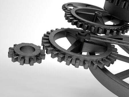high torque: Picture of closeup concept of steel cogwheel  transmission