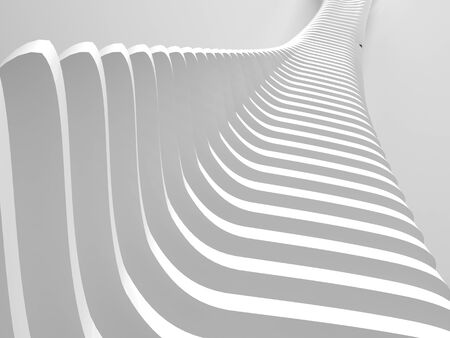 imaginative: Picture of White abstract background with wave shaped form Stock Photo