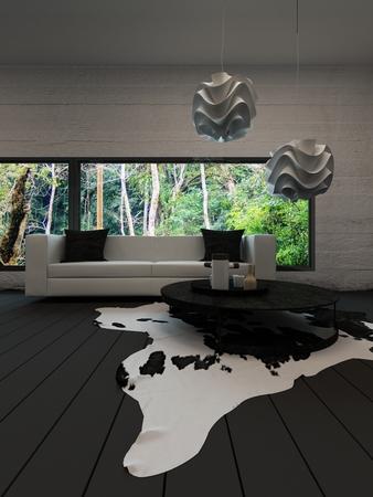 abatjour: Immagine del moderno interiow salotto con tavolino