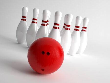 Bowling Ball And Pins photo