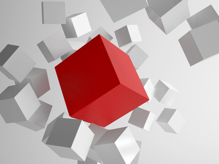 Picture of 3d rendering of cubes photo