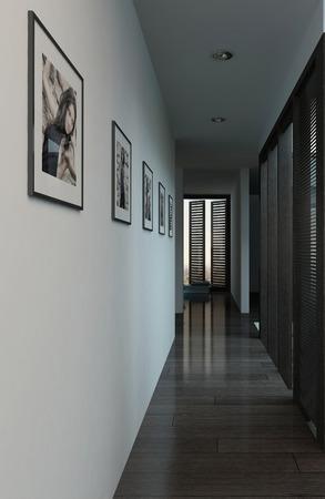 Photo De L\'intérieur De L\'appartement Moderne Avec Long Couloir ...