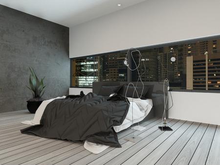 Photo de l'intérieur de la chambre moderne de nuit Banque d'images - 28283517