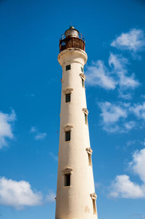 deteriorating: Picture of California Lighthouse Landmark on Aruba Caribbean Stock Photo