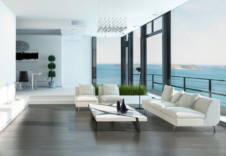 Moderne luxuriöse Wohnzimmer Innenraum