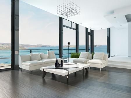 Moderne luxe woonkamer interieur Stockfoto