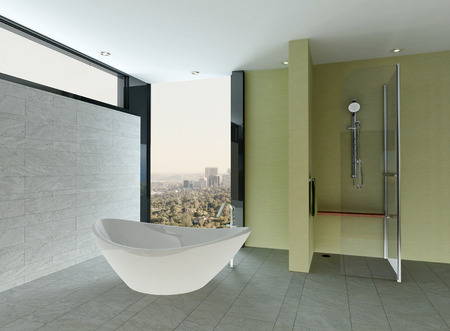 zen interior: Nice modern bathroom interior