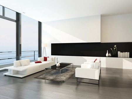 apartment living: Luxury design living room interior with modern furniture