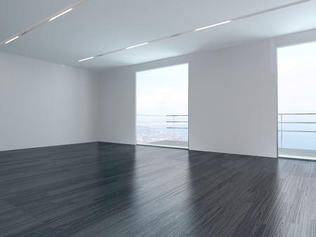 Modern empty white room interior