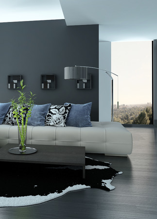 Modern living room interior with nice furniture