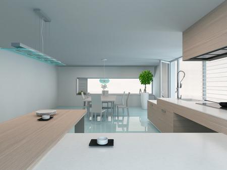 kitchen appliances: Modern design kitchen interior Stock Photo