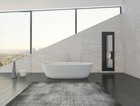 black bathroom: Modern design bathroom interior