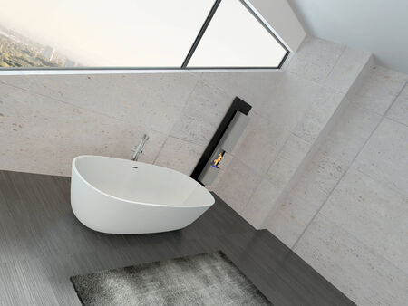 Modern design bathroom interior photo