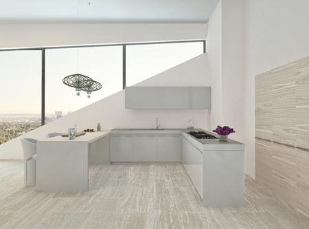 Modern design kitchen interior  photo