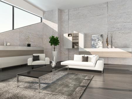 Modernes Design Wohnzimmer Innenraum Standard-Bild