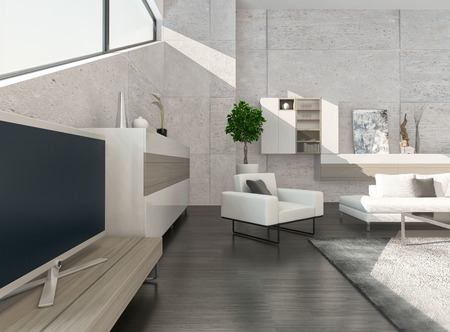 Modern design living room interior photo