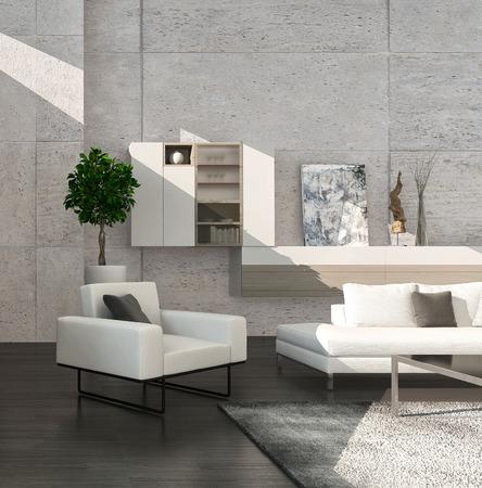 modern living room: Modern design living room interior Stock Photo