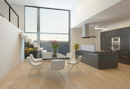 De Diseño Moderno, Apartamento Con Altillo Fotos, Retratos, Imágenes ...