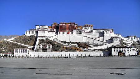 potala: Potala Palace in Lhasa, Tibet, China